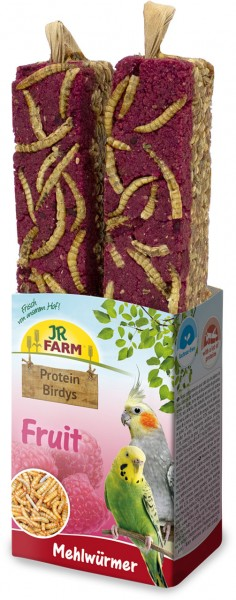 JR Birds Protein-Birdys Fruit Mehlwürmer 150 g