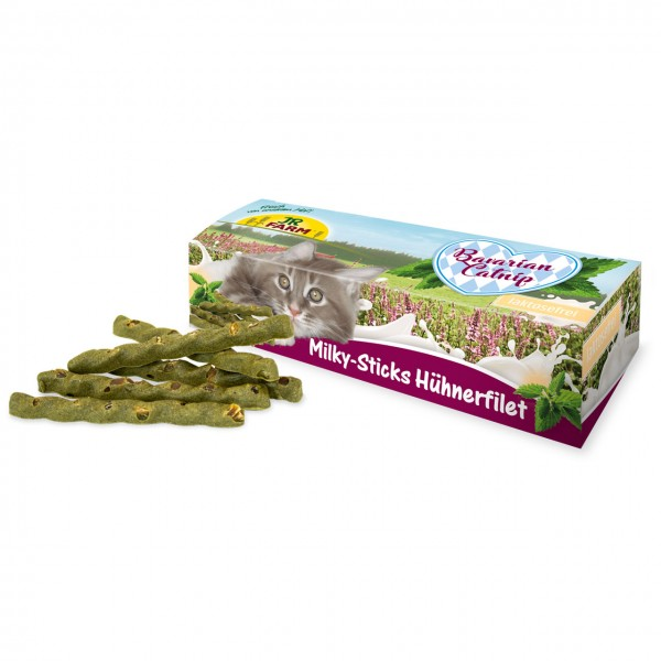 JR Cat Bavarian Catnip Milky-Sticks Hühnerfilet35g